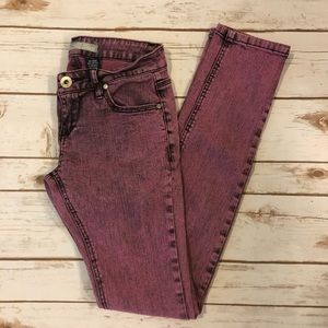 [Vanilla Star] Pink Acid Wash Jeans